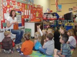 Reading a story about Dairy Farming to the Preschoolers