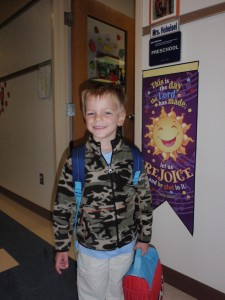 first day of school, erik, fall 2011